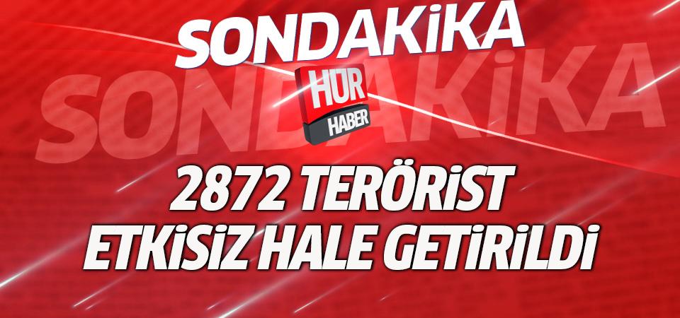 Zeytin Dalı Harekatı'nda 2872 terörist etkisiz hale getirildi