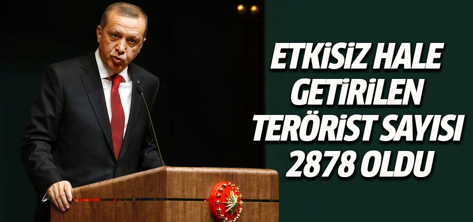 Afrin'de etkisiz hale getirilen terörist sayısı 2878 oldu