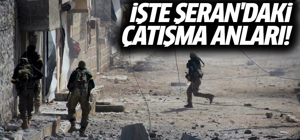 Afrin'in Şeran beldesindeki çatışma anları