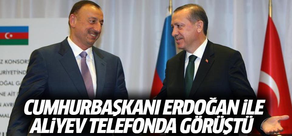 Cumhurbaşkanı Erdoğan ile Aliyev telefonla görüştü