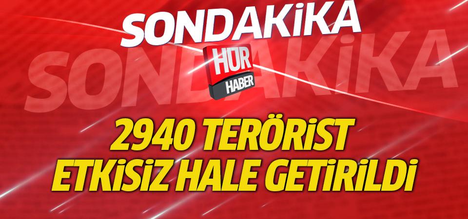 Zeytin Dalı Harekatı'nda 2940 terörist etkisiz hale getirildi