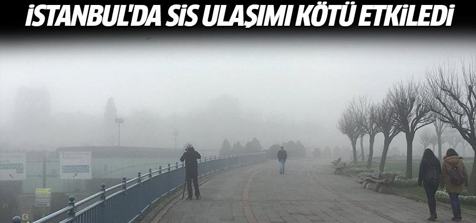 İstanbul'da sis ulaşımı olumsuz etkiledi