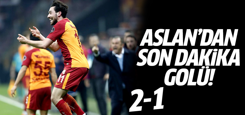Galatasaray'dan son dakika golü! 2-1