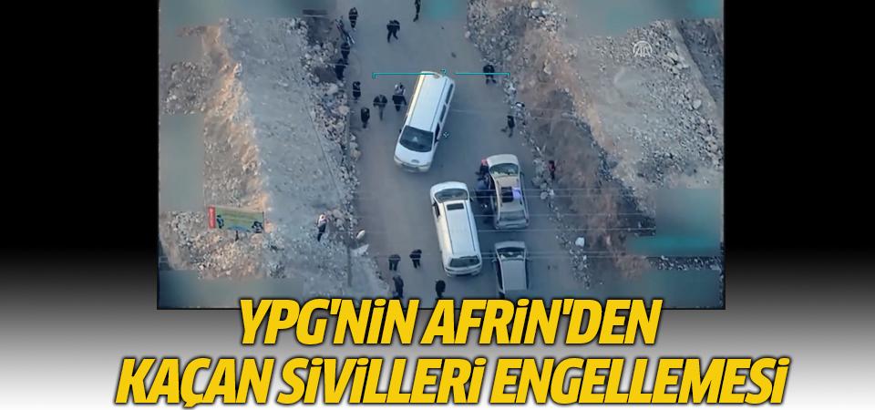 Afrin'de sivillere YPG engeli