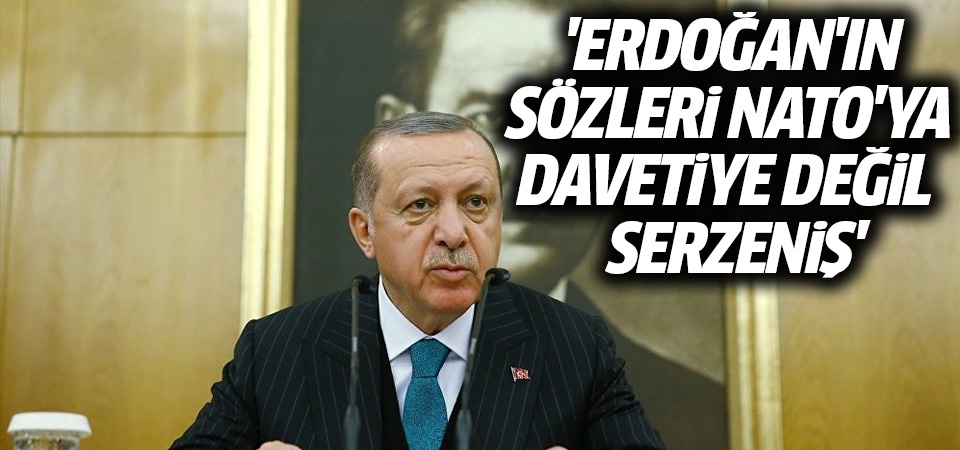 'Erdoğan'ın sözleri NATO'ya davetiye değil serzeniş'