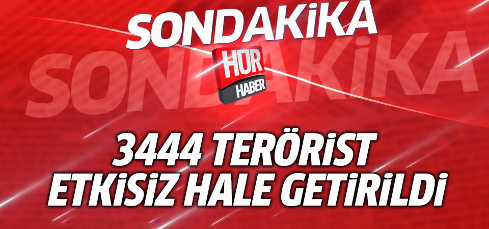 Zeytin Dalı Harekatı'nda 3444 terörist etkisiz hale getirildi