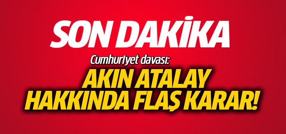 Cumhuriyet Davası'nda İcra Kurulu Bşk Atalay'ın tutukluluğunun devamına karar verildi