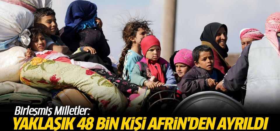 Birleşmiş Milletler: Yaklaşık 48 bin kişi Afrin'den ayrıldı