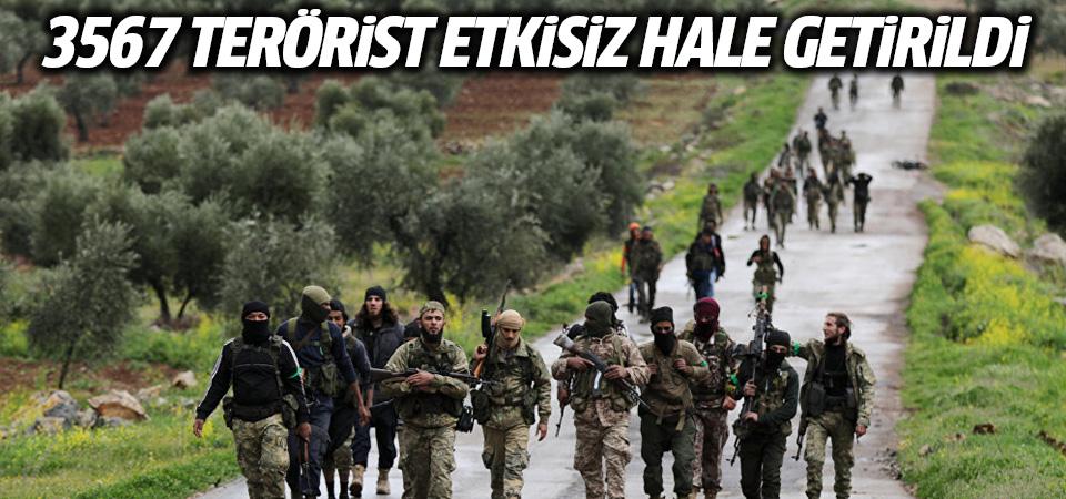 TSK: 3567 terörist etkisiz hale getirildi
