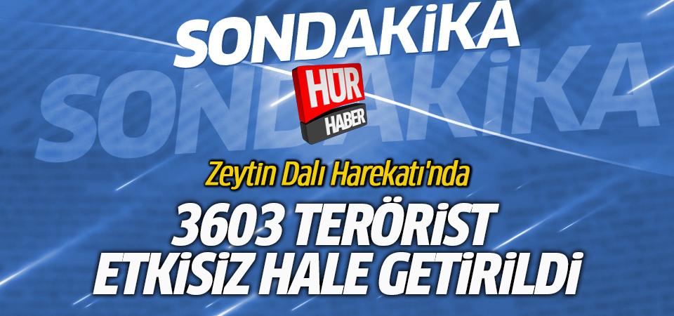 Cumhurbaşkanı Erdoğan: Zeytin Dalı Harekatı'nda 3603 terörist etkisiz hale getirildi
