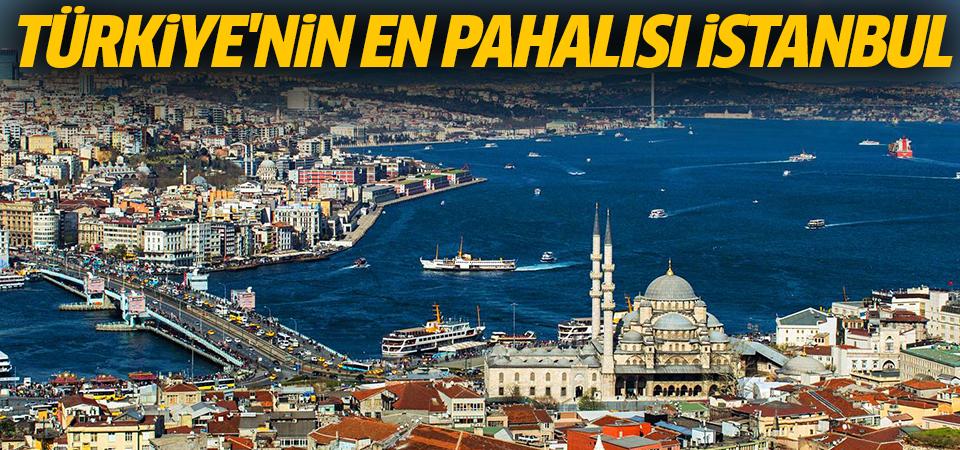 Türkiye'nin en pahalısı İstanbul, en ucuzu Ağrı