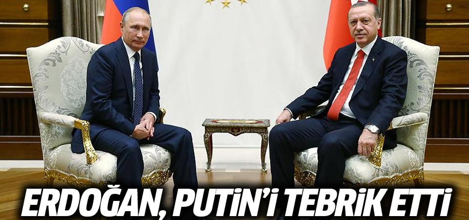 Erdoğan, Putin'i tebrik etti