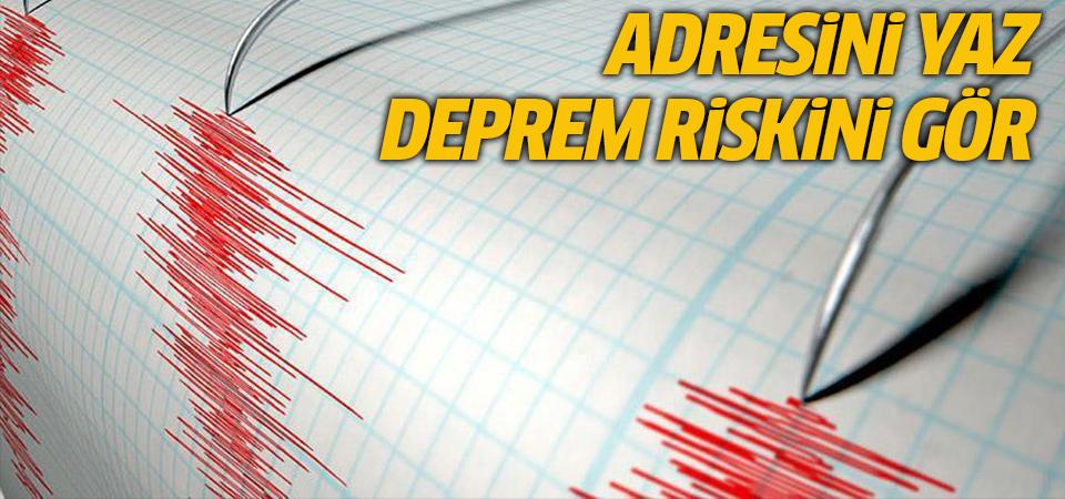Evinizin deprem riskini öğrenebilirsiniz