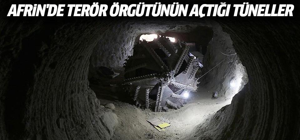 Afrin merkezdeki tüneller ortaya çıkarıldı