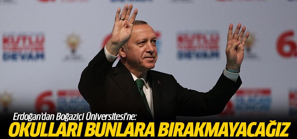 Erdoğan, Boğaziçi'ndeki YPG'lileri hedef aldı