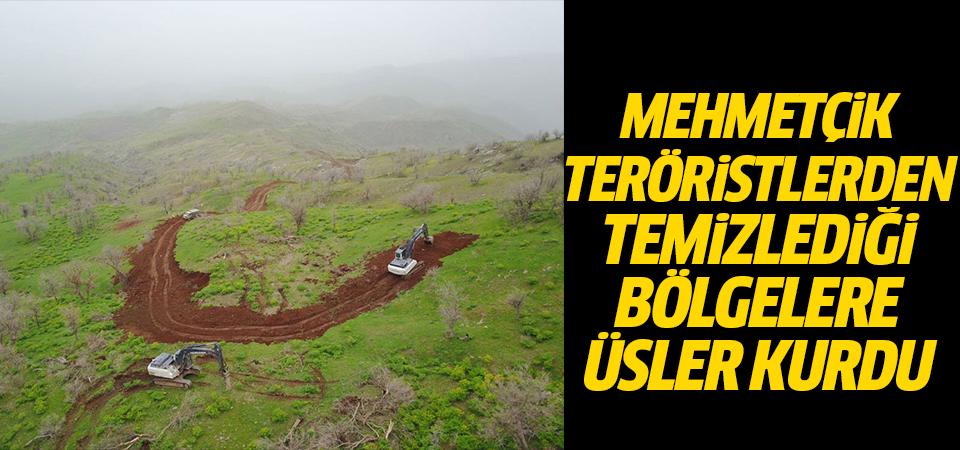 Mehmetçik teröristlerden temizlediği bölgelere üsler kurdu