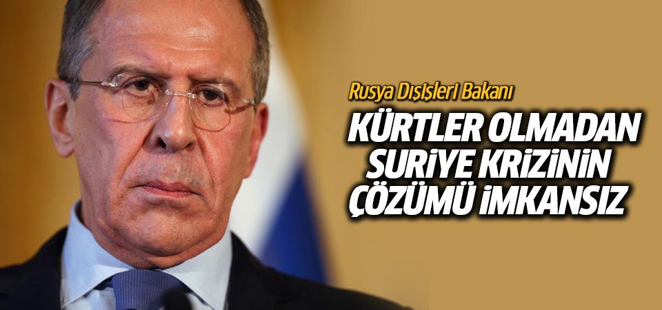 Lavrov: Kürtler olmadan Suriye krizinin çözümü imkansız