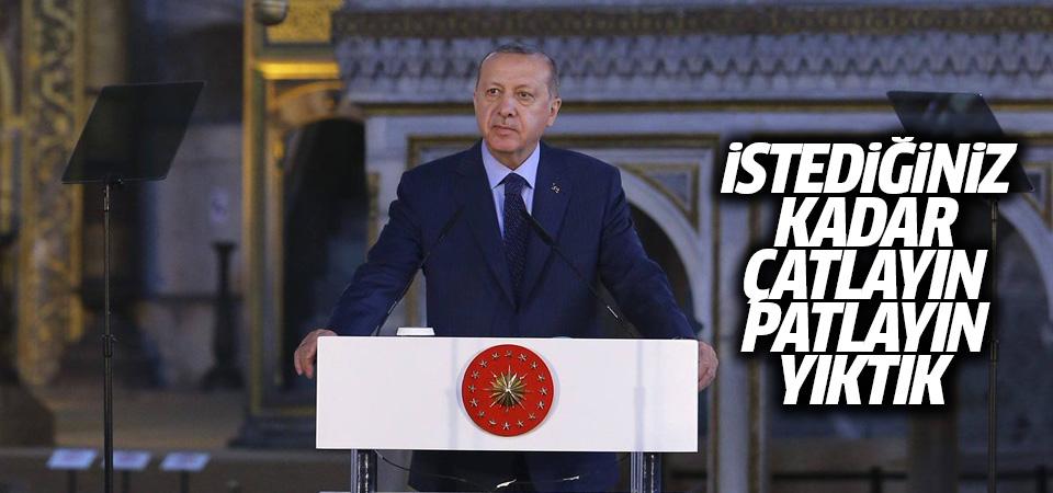Cumhurbaşkanı Erdoğan'dan AKM mesajı