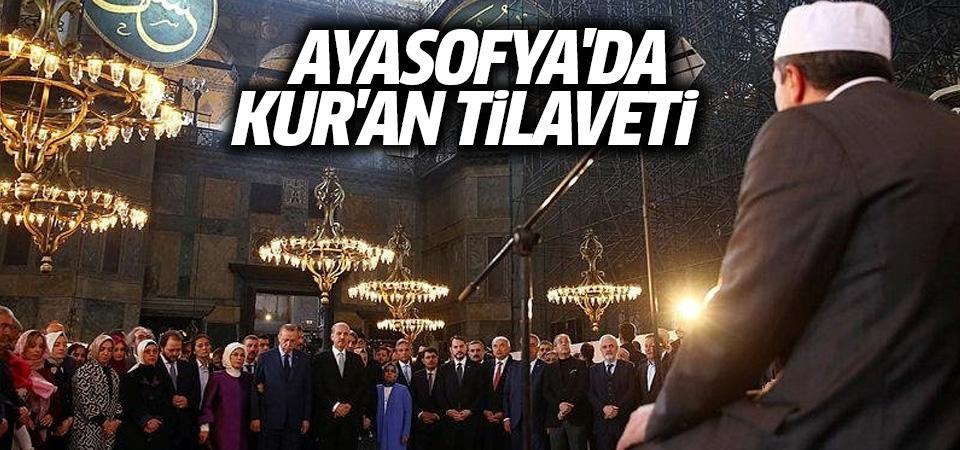 Ayasofya'da Kur'an-ı Kerim tilaveti
