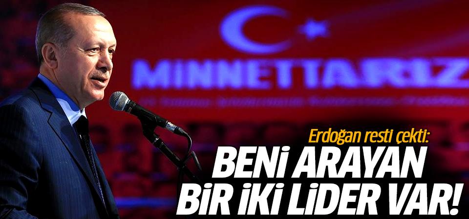 Erdoğan resti çekti: Siz yolunuza, biz yolumuza!