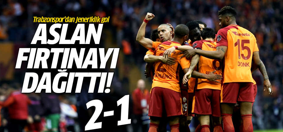 Galatasaray evinde Trabzonspor'u yendi! 2-1