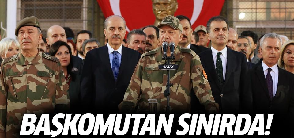 Cumhurbaşkanı Erdoğan kamuflaj giydi