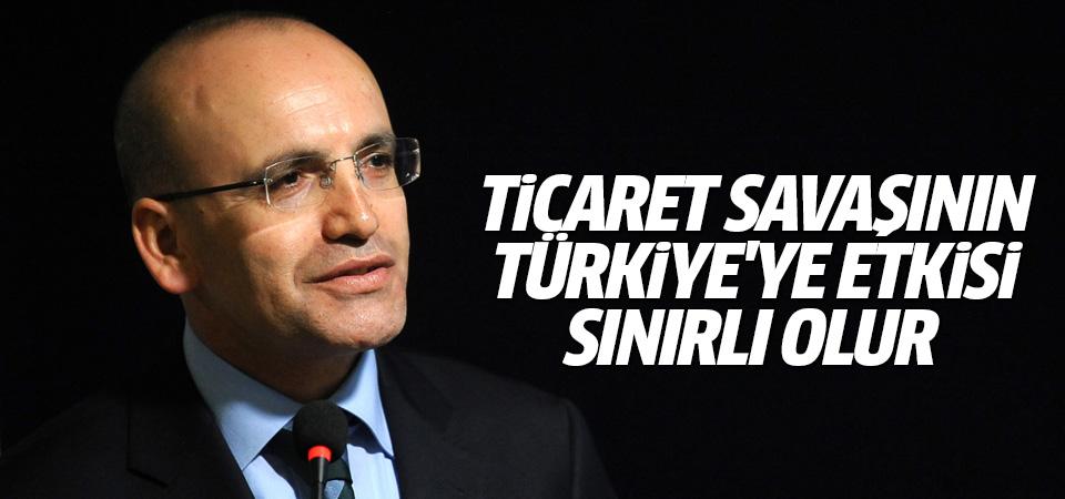 Şimşek: Ticaret savaşının Türkiye'ye etkisi sınırlı olur