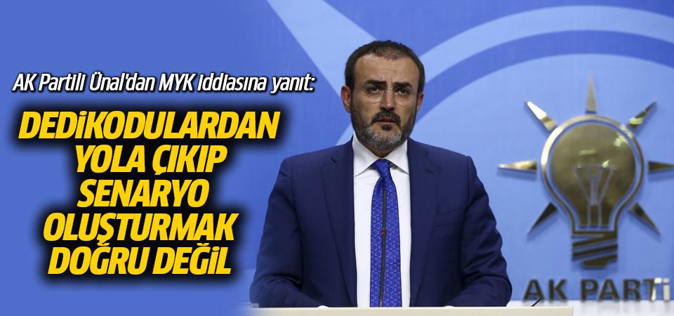 AK Partili Ünal'dan MYK iddiasına yanıt