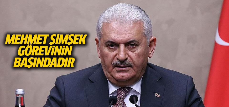 Başbakan, Şimşek'in istifa edeceği iddialarına noktayı koydu