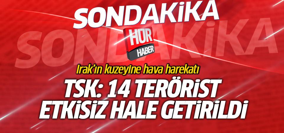 TSK: 14 terörist etkisiz hale getirildi