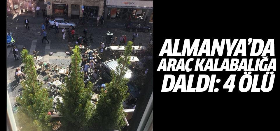 Almanya'da kamyonet kalabalığa daldı: 4 ölü, 20 yaralı