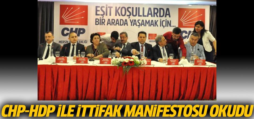 CHP-HDP ile ittifak manifestosu okudu