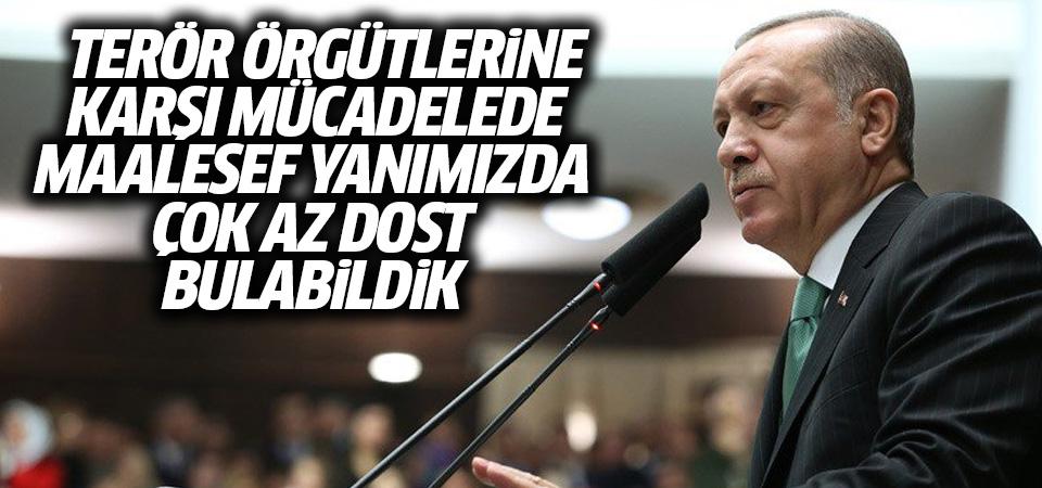 Erdoğan: Terör örgütlerine karşı mücadelede maalesef yanımızda çok az dost bulabildik