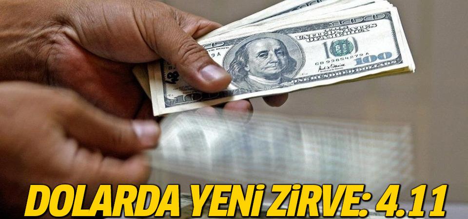 Dolarda yeni zirve: 4.11