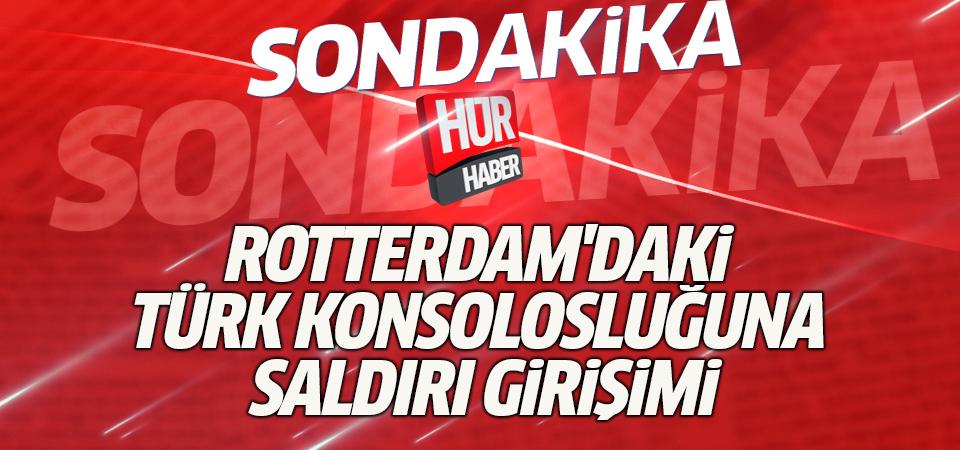 Rotterdam'daki Türk konsolosluğuna saldırı girişimi