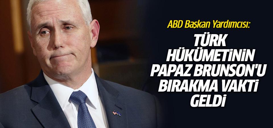 ABD: Türk hükümetinin papaz Brunson'u bırakma zamanı geldi