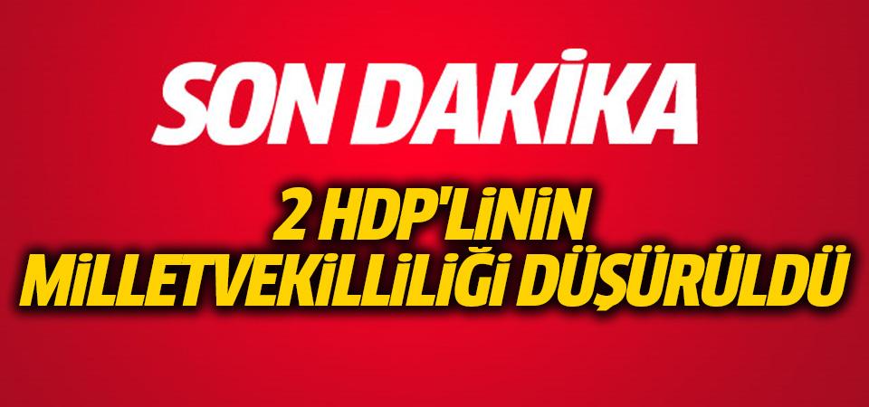 2 HDP'linin milletvekilliği düşürüldü