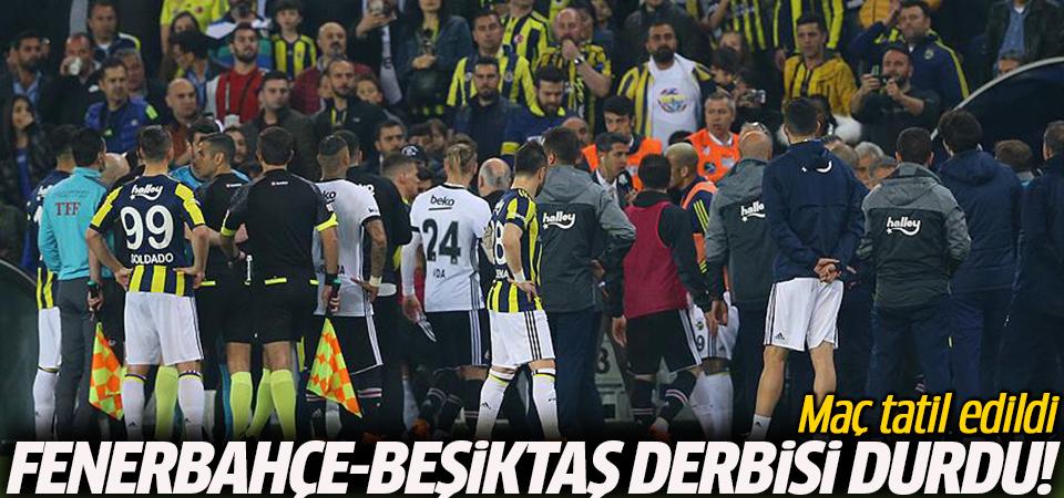 Fenerbahçe-Beşiktaş derbisi durdu! Maç tatil edildi