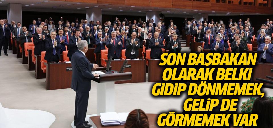 Başbakan Binali Yıldırım Meclis'te ayakta alkışlandı