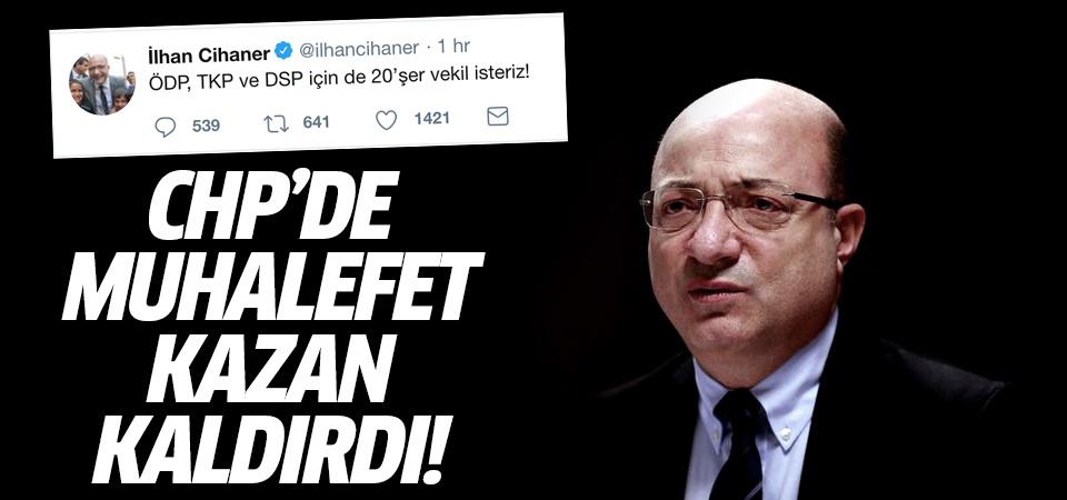 CHP'de muhalefet kazan kaldırdı! İlk çıkış Cihaner'den