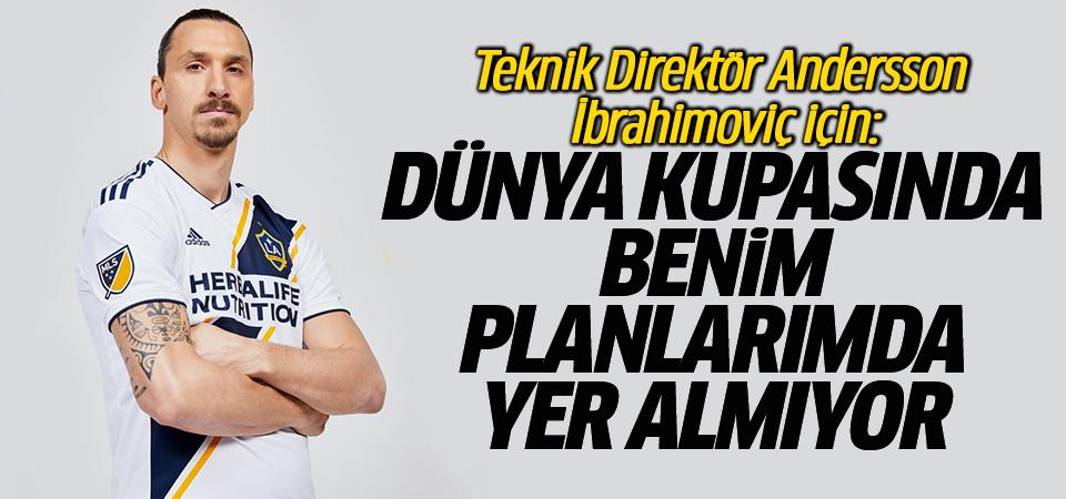 Teknik Direktör Andersson İbrahimoviç için: Dünya Kupasında Benim planlarımda yer almıyor
