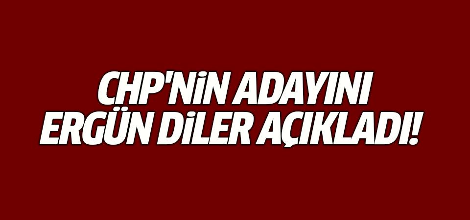 CHP'nin adayını Ergün Diler açıkladı