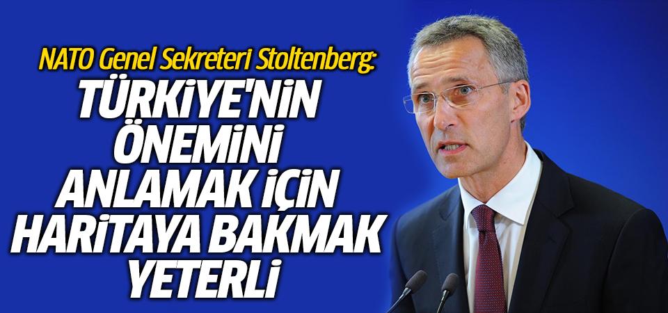 NATO Genel Sekreteri Stoltenberg: Türkiye'nin önemini anlamak için haritaya bakmak yeterli