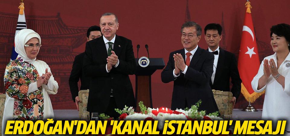 Erdoğan'dan 'Kanal İstanbul' mesajı