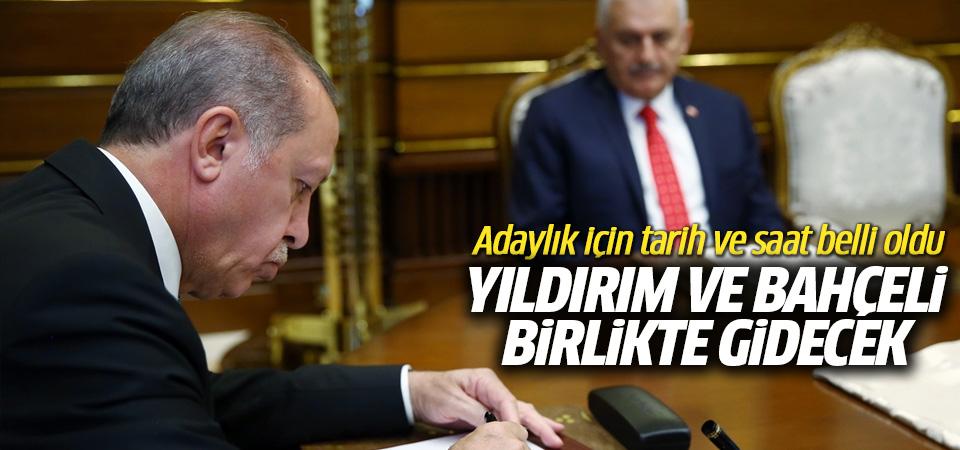 Başbakan Yıldırım ve Bahçeli, Erdoğan'ı aday gösterecek
