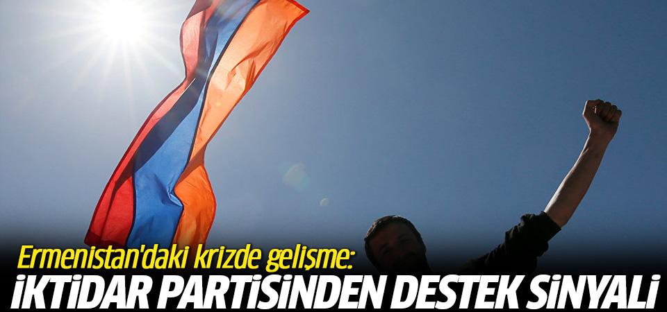 Ermenistan'daki krizde yeni gelişme! İktidar partisinden destek sinyali
