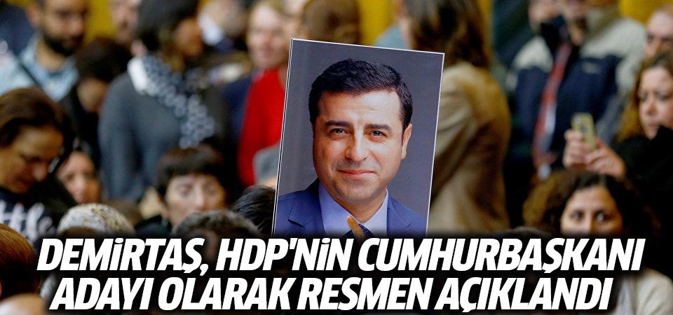 Demirtaş, HDP'nin cumhurbaşkanı adayı olarak resmen açıklandı