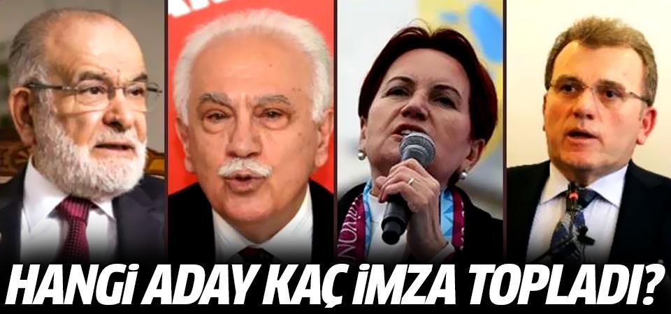 Hangi aday kaç imza topladı? Akşener ve Karamollaoğlu'nda son durum...