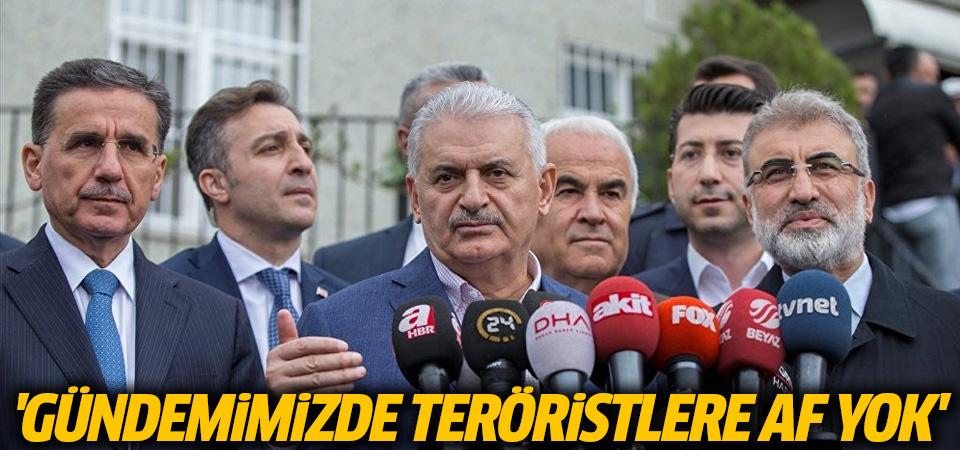 Yıldırım: Gündemimizde teröristlere af yok