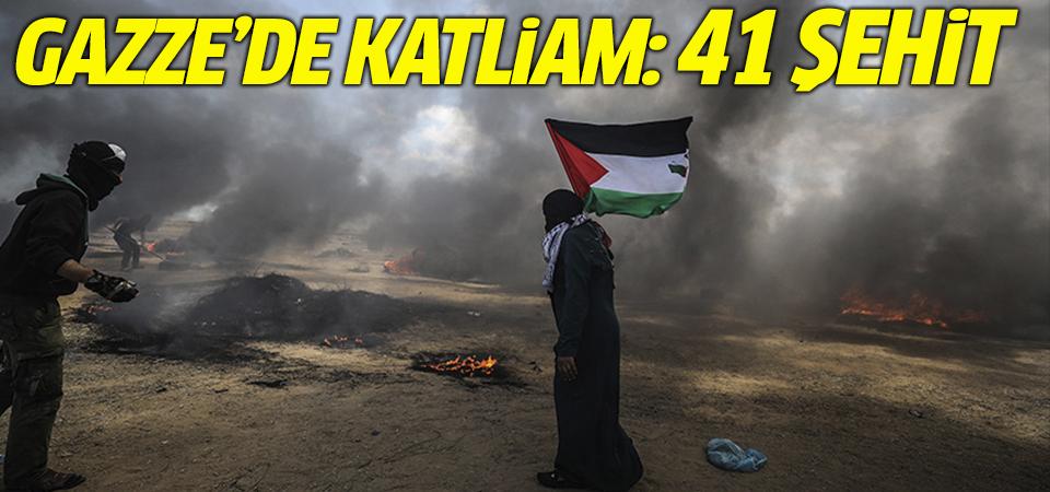 Gazze'de katliam: 41 şehit